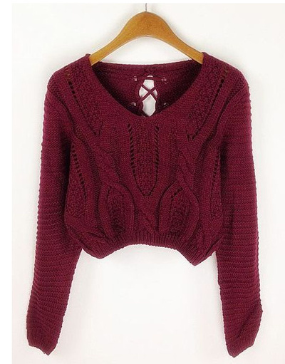 Cropped knit sweater · fashion struck · online store powered by storenvy