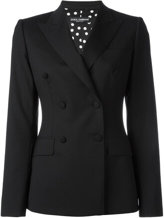 blazer double breasted women spandex black wool jacket
