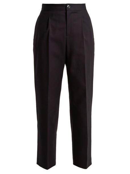 A.P.C. cropped cotton navy pants