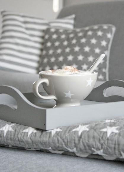 stars bag pillow mug grey holiday season