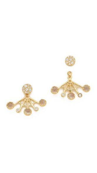 back earrings gold jewels