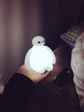 t-shirt home accessory lamp baymax white