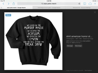 evan peters black sweater quote on it