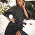 Women's Girly Stylish 3/4 Sleeves Belted Wrap Coat