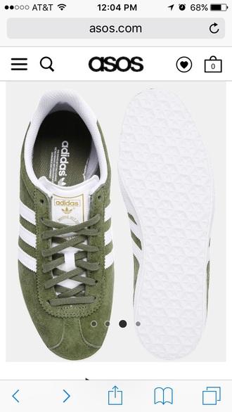 shoes khaki white suede adidas