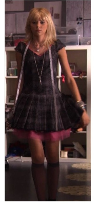 dress jenny humphrey plaid dress flannel checked skater dress skater dress gossip girl gossip girl jenny taylor momsen