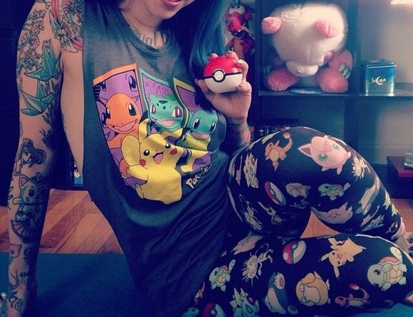 shirt graphic tee pokemon leggings graphic leggings pokemon pants