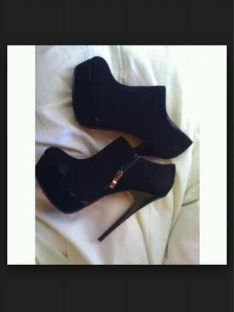 shoes boots heel boots high heels black