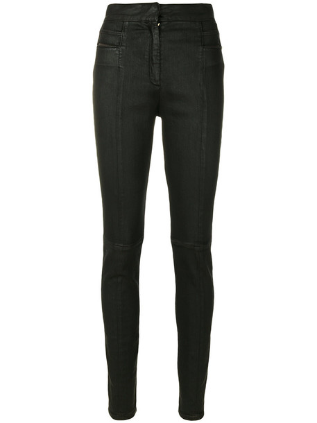 Balmain jeans high women spandex cotton black
