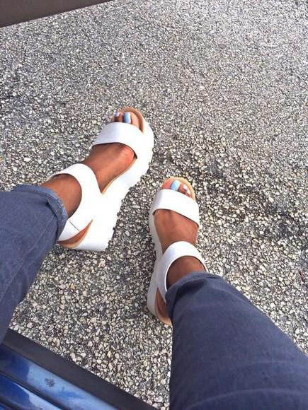 shoes platform shoes sandals cocaine