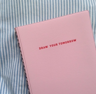 home accessory notebook hipster girly pastel pink quote on it baby pink leather cute