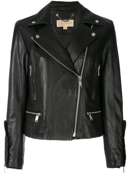 MICHAEL Michael Kors jacket biker jacket women spandex cotton black