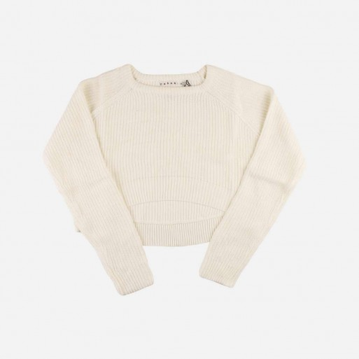 REHAB CROP TOP LONG SLEEVE BASIC SWEATER (WHITE OR BLACK)