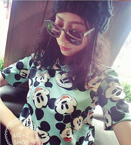 2014 New Arrival Women T Shirt Cute Mickey Mouse Print Fashion Casual Free Shipping YP05 37-in T-Shirts from Apparel & Accessories on Aliexpress.com | Alibaba Group