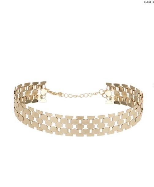 jewels gold choker gold chain