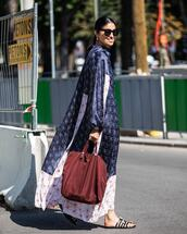 jacket,kimoni,kimono,long kimono,blue kimono,dress,long dress,sunglasses,bag,big bag,flip-flops