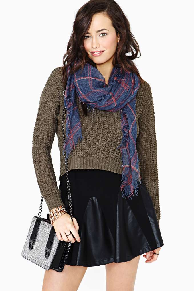 Conquest Faux Leather Skirt in  What's New Clothes Bottoms at Nasty Gal