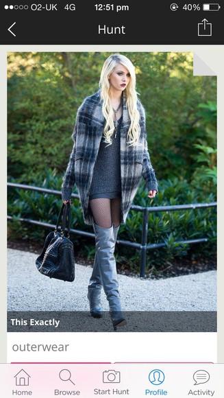 taylor momsen jenny humphrey gossip girl coat tartan