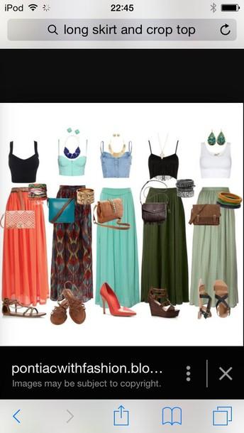 top skirt high waisted maxi skirts