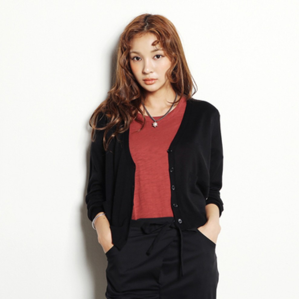 T pocket cardigan
