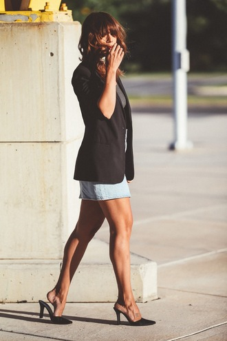 fashionbananas blogger jacket skirt