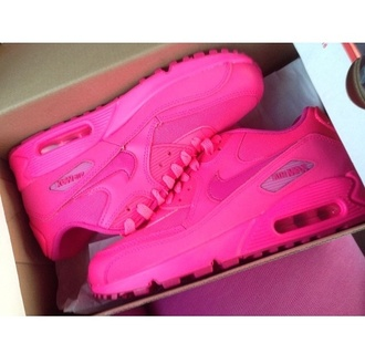 shoes sneakers sneakers nike air max neon pink air max pink sneakers nike air max 90 neon pink air max 90 neon pink airmax