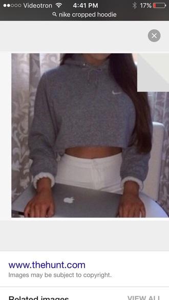 shirt grey crop top nike
