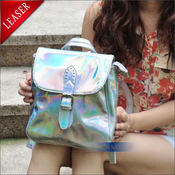 Aliexpress.com : Buy Fashion Metal Holographic Laser Backpack Women Stylish Rainbow Colorful Hologram Bag Mini Laser Shoulder Street Party School Bag from Reliable bag lv suppliers on FASHION WEEKEND