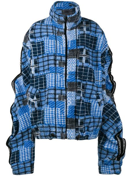 Y / Project jacket bomber jacket oversized patchwork women blue
