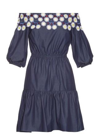 dress cotton navy