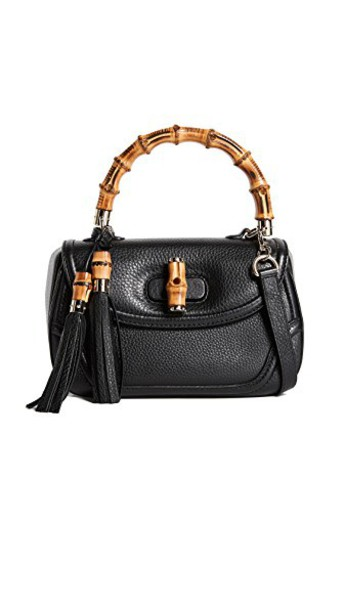 What Goes Around Comes Around satchel leather black bag