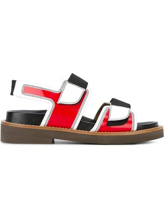 straps sandals red shoes