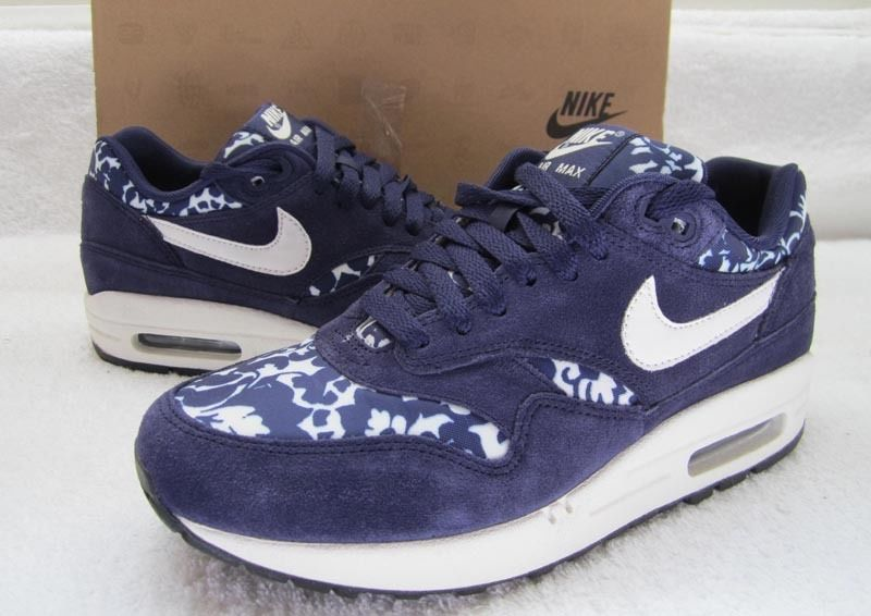 *rare 2012* bnib nike air max 1 print liberty fast love purple (uk 5)