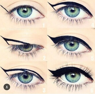 make-up eyes liner lashes black eye makeup