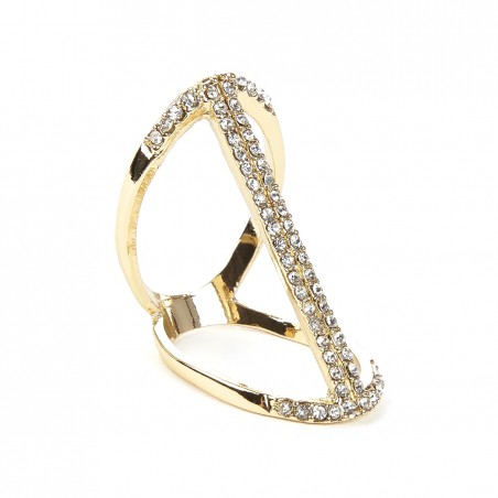 Sole Society - Linear Crystal Ring - Gold