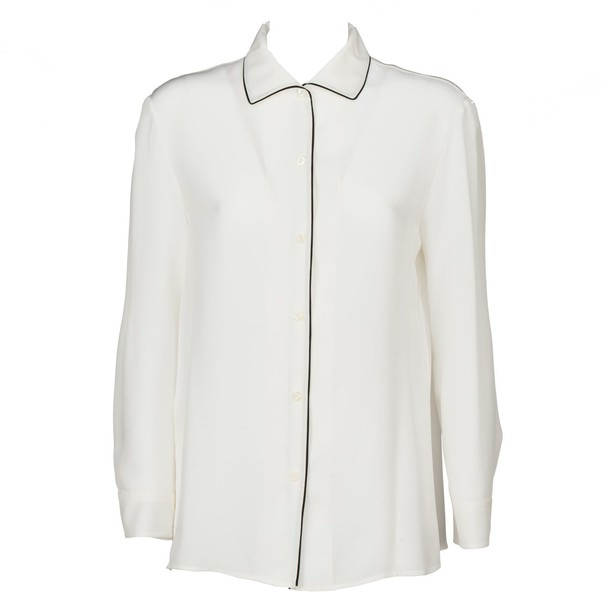 Prada shirt white black top