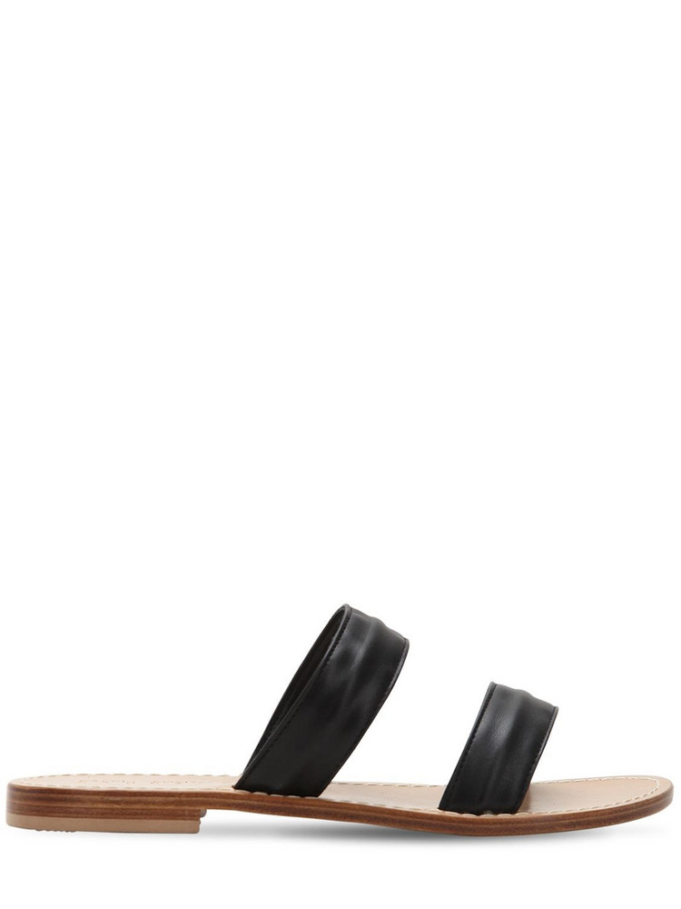 CAPRI POSITANO 10mm Salaria Leather Sandals in black