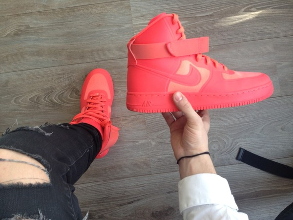 shoes mens mens shoes sneakers hightop solar red nike air force 1 nike air force 1 nike fitness peach uptown air jordan 1 red october air jordan where can i get them :(? somewhere near slovenia maybe in italy or croatia ? running shoes girly high tops style girl