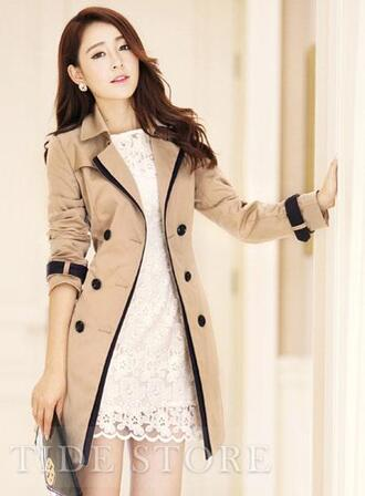 coat fall outfits double breasted double breasted coat brown coat black coat kfashion ulzzang spring coat trench coat