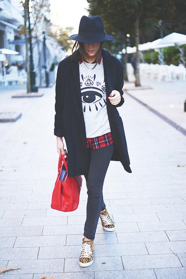 the fashion through my eyes sweater hat bag shoes coat shirt
