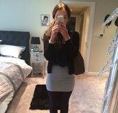 skirt,helen flanagan,gray skirt,black tights