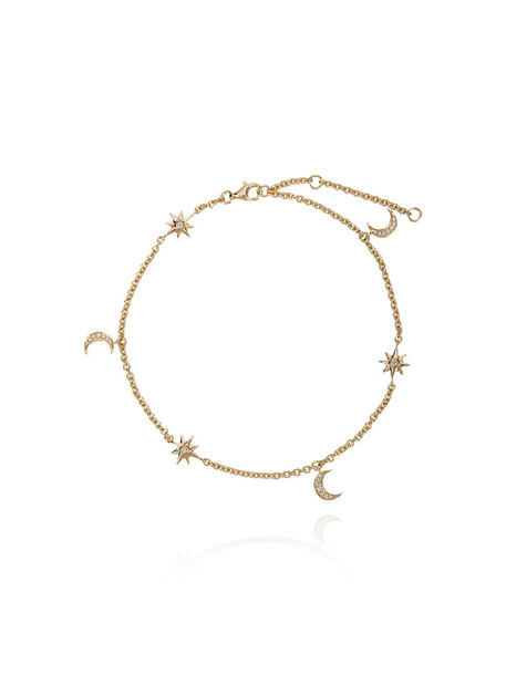 Shay women moon anklet gold grey metallic jewels