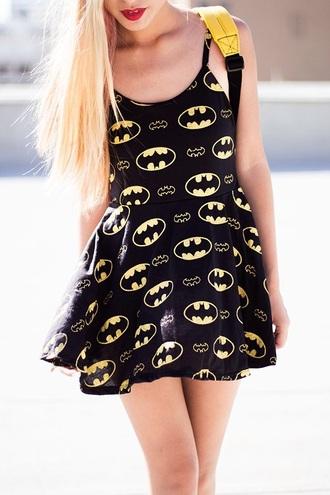 dress batman black dress yellow dress