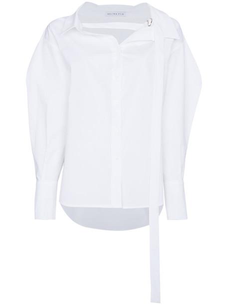 shirt women white cotton top