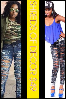 Celebrity Inspired Ripped Jeans...Available door BodyDecorBoutique