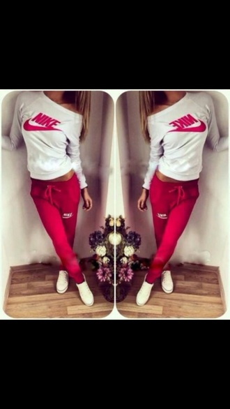 pants sweatpants tight red red sweatpants nike red nike nike pants nike tight white pretty sportswear fit yoga women yoga top style t-shirt nike sweater nike running shoes nike pro leggings jumpsuit