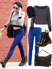 sweater,clothes,celebrity,miley cyrus,hat,boots,shoes