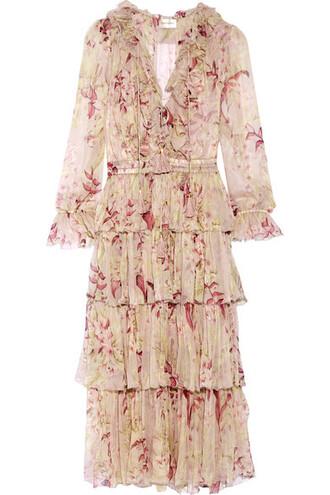 dress chiffon dress chiffon silk blush