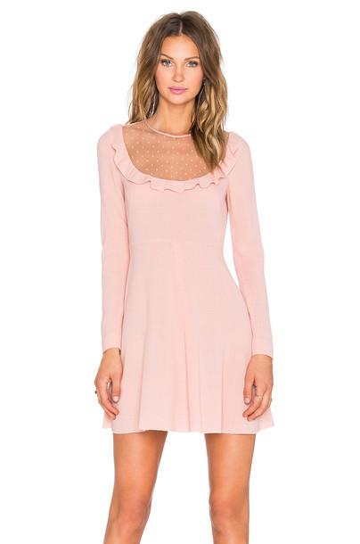 dress mini dress mini sheer pink