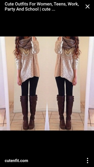 blouse beige loose fit sweater sweater